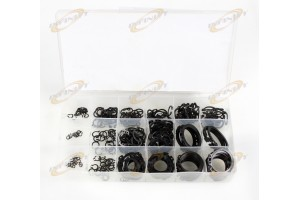 300 Pc Steel Snap Retaining Ring Hardware Assortment Set Kit With 18 Sizes